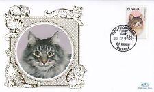 (01736) Guyana Benham FDC Cats 29 July 1997