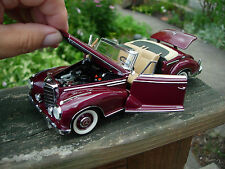 Franklin Mint 1/24th Scale 1957 Mercedes-Benz 3000Sc convertible-PAPERS-BOX-