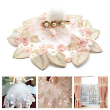 18cm DIY Flower and Lace Applique Trim Feather Embroidery Lace Doll Sewing Dress
