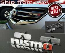 Bolt on Metal Chrome Red NISMO Front Emblem Badge For Grill Billet  For  NIssan