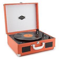 Auna Peggy Sue Retro Record Player • Vinyl LP USB Line out Jeans Denim...