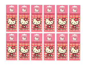 12 PACK HELLO KITTY CAR AIR FRESHENERS HANGING HOME OFFICE CAR VALETING CITRUS