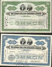 DECO => 2 titres: THE LEHIGH COAL & NAVIGATION CY USA) (K)