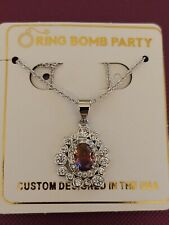 Ring Bomb Party - Original Collection Necklace - Royal Ombre Crystal/White Topaz