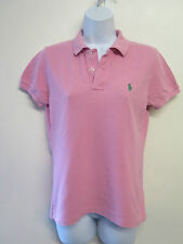 Genuine Vintage Ralph Lauren POLO Pink Short Sleeved Polo Shirt - UK 10 Euro 38