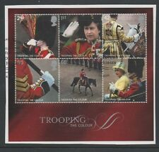 Gb 2005 Trooping The Colour Minisheet fine used set stamps on piece