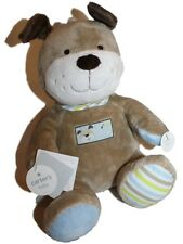 "NEW Baby Carter's Brown Plush Dog Singing Musical Animated Toy ABC s 9"" tall"