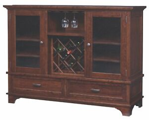 Custom US Hand Made | Made to Order | Solid Hard Wood | 4 Door Buffet | Cabinet