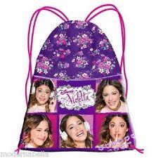 Violetta viola Sacco sacchetto zaino,borsa scuola,palestra,temop libero sport