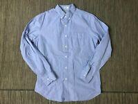 J Crew Adult Mens Medium Button Down Shirt Classic Fit Blue 78151