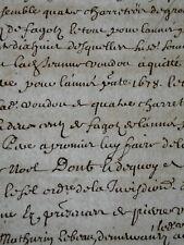 1678 ANTIQUE DOCUMENT NOTARIAL MANUSCRIPT SIGNED PRIEST JESUIT COLLEGE LIMOGES