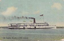 R & O Navigation Co Steamer TORONTO Lake Ontario Canada 1910 Pugh Mfg Postcard