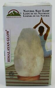 HIMALAYAN GLOW Natural Salt Lamp NEW IN PACKAGE Quartz Table Lamp White