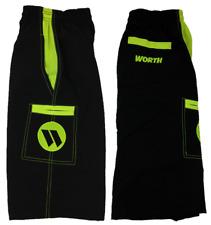 Worth Microfiber Shorts Black/Volt 2XL