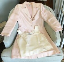 TAHARI 2 PC. 100% Silk Pink Light-Weight Coat (SZ. 10) & Coordinating Tank (10)