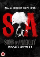 Sons of Anarchy - Season 1-5 [DVD]  BRAND NEW N S FREEPOST