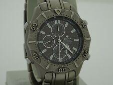 citizen eco drive promaster titanium alarm chrono watch 0855-h10350 very rare
