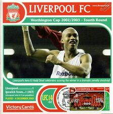 Liverpool 2002-03 Ipswich Town (El Hadji Diouf) Football Stamp Victory Card #214