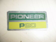PIONEER CHAINSAW P20 20 STICKER DECAL STBX855