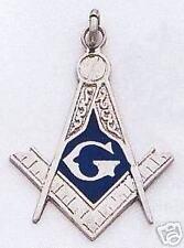 Masonic Enameled Sterling Silver Pendant New D16112-SS