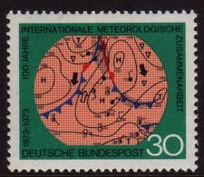 W Alemania 1973 Meteorológica Mundial Sg 1654 Mnh