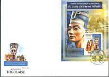 Togo 2013 Bust Of Nefertiti 100Th Discovery Anniversary Egypt Souvenir Sht Fdc