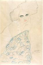 Gustav Klimt Drawings: Two Female Studies -  2 Fine Art Prints