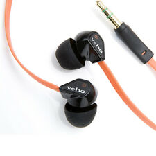 VEHO 360Z1 NOISE ISOLATING IN-EAR HEADPHONES FLAT CORD ORANGE - VEP-003-360Z1GB