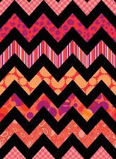 2.7 Yards Quilt Cotton Fabric- Quilting Treasures Chevron Chic Red/Orange - SALE