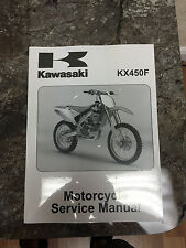New OEM Kawasaki 2006 2007 2008 KX450 KX450F Service Repair Manual Book Service