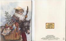VINTAGE CAMERA CLOCK BOOK EYEGLASSES 1 CHRISTMAS SANTA DONKEY RABBIT CANE CARD