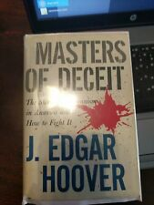 J Edgar Hoover / Masters of Deceit / Signed