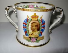 "Exceptional SHELLEY 1937 Royal Coronation 4.5"" Large Loving Cup Mint!"