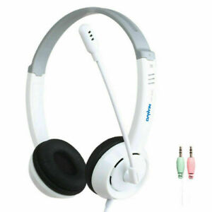 Wired On Ear Kids Headphones with Microphone Stereo Online Schooling Headsets