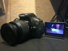 Canon EOS600d Camera 18-55 & 75-300 lenses + Bag, Power Adapter, Battery, Flash