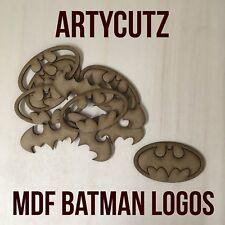 Pack 10 x BATMAN symbol / logo 2 piece Wooden MDF Craft Blank