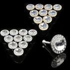 10Pcs Crystal Glass Handle Pull Cabinet Knob Diamond Shape 30mm Drawer Cupboard