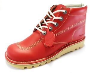 Red Classic Retro Original Kickers Leather Boot s sizes 4 to 12