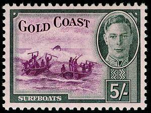 GOLD COAST SG145, 5s purple & black, LH MINT. Cat £45.