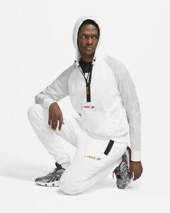 Nike NSW Air Max Poly Fleece Cargo Full Tracksuit White Size Medium Hoodie Pants
