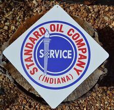 STANDARD OIL COMPANY Indiana Metal Gas Station Service Pump SIGN Boron Ad logo