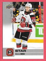 2019-20 Marco Rossi Upper Deck CHL Star Rookie - Ottawa 67s