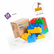 UniPlay Mix Soft Building Blocks with 4 Different Sizes for Ages 3 Months &Up.
