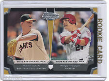 RC~MIKE TROUT~MATT CAIN 2012 Bowman Draft_ROOKIE CARD~12~MVP~ROY~ALL-STAR~ANGELS