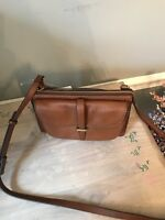NWT FOSSIL LEATHER RYDER SMALL CROSSBODY IN BROWN