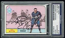 Ron Ellis #126 signed autograph auto 1968 Topps Hockey Trading Card PSA Slabbed