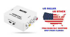 HDMI to Mini RCA AV Video Audio Converter Adapter with USB Charge Cable