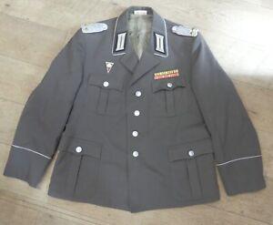 e12384 Original alte Offiziersjacke NVA mit Akademieabzeichen und Spange 1988