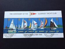 Guernsey 1991 Yacht Club Miniature Sheet Used Hinged