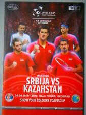 Novak Djokovic Serbia vs Kazahstan Davis Cup 2016 Match Program Viktor Troicki